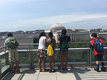 Children looking out over Washington DC