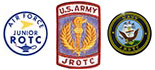 Air Force, Army and Navy JROTC Badges
