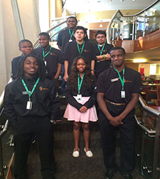 Project SEARCH interns standing on a stairwell