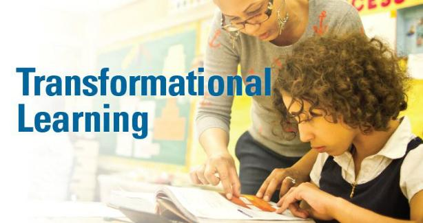 Transformational Learning, photo of child working with teacher