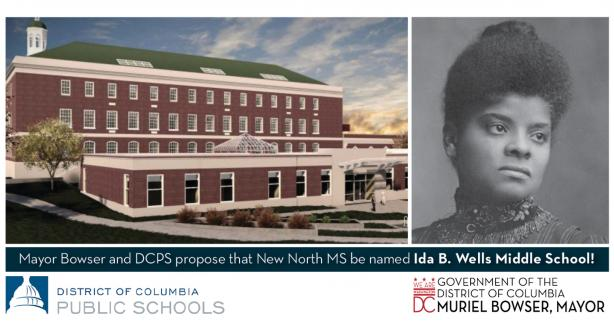 Mayor Bowser's Proposed Name for New North Middle School Is Ida B. Wells Middle