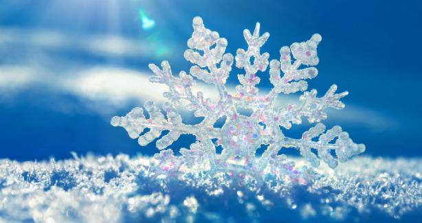 Photo of a snowflake