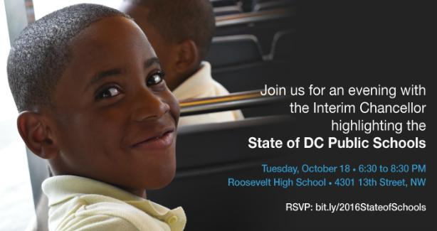 Join us for an evening with the Interim Chancellor highlighting the State of DC Public Schools