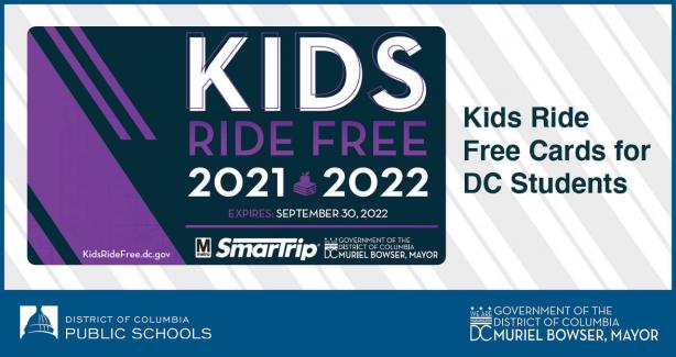 Kids Ride Free Cards for DC Students