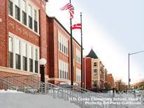 photo of school in snow