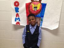 4.  President Barack Obama (Jaden, 1st grade)