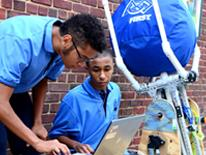 DCPS students working on engineering assignment